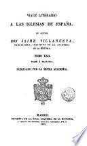 Viage [sic] literario a las iglesias de España, 22