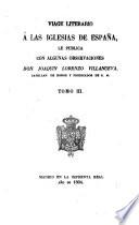 Viage [sic] literario a las iglesias de España, 3
