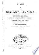 Viaje de Ceylán a Damasco