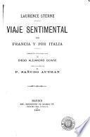 Viaje sentimental por Francia y por Italia