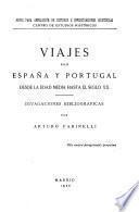 Viajes por España y Portugal desde la edad media hasta el siglo XX