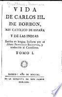 Vida de Carlos III. de Borbon