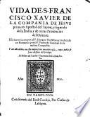 Vida de S.Francisco Xavier S.J.
