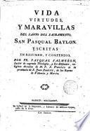 Vida de San Pasqual Baylon