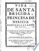 Vida de Santa Brigida, princesa de Nericia