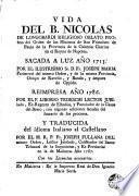 Vida del B. Nicolas de Longobardi ...