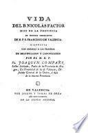 Vida del B. Nicolás Factor