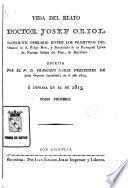 Vida del Beato Doctor Josef Oriol, 1