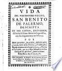 Vida del portentoso negro San Benito de Palermo