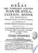 Vida del venerable P. Juan de Avila