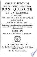 Vida y hechos del ingenioso cavallero don Quixote