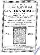 Vida y milagros de San Francisco Xavier