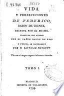 Vida y persecuciones de Federico, Baron de Trenck