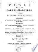Vidas de los Padres Martires y otros principales santos, 1