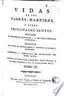 Vidas de los Padres Martires y otros principales santos, 11