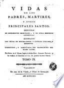Vidas de los Padres Martires y otros principales santos, 9