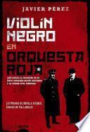 Violín negro en orquesta roja