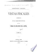Vistas fiscales expedidas en el carácter de fiscal de las cámaras de apelaciones de la capital