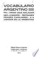 Vocabulario argentino