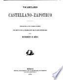 Vocabulario castellano-zapoteco
