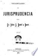 Vocabulario de jurisprudencia