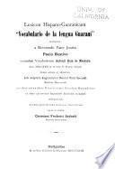 Vocabulario de la lengua Guaraní