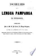 Vocabulario de la lengua pampanga en romance