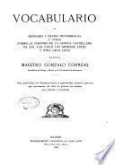 Vocabulario de refranes y frases proverbiales y otras fórmulas comunes de la lengua castellana