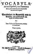 Vocabulario en Espanol y en Flamenco-Vocabulaer in Spaensch ende in Duytsch