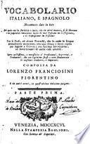 Vocabulario español e italiano, 1