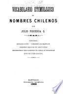 Vocabulario etimolójico de nombres chilenos