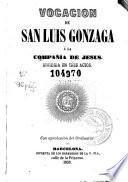 Vocación de San Luis Gonzaga a la Compañía de Jesús