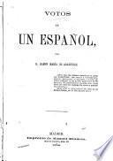 Votos de un español