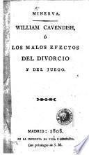 William Cavendish, ó, Los malos efectos del divorcio y del juego