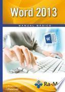 Word 2013. Manual Básico