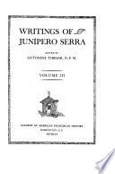 Writings of Junípero Serra