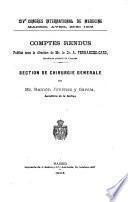 XIV CONGRES INTERNATIONAL DE MEDECINE MARDID, AVRIL 23- 30 1908