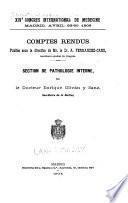 XIVe Congrès international de médecine, Madrid, avril 23-30, 1903