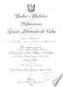 Yndice alfabético y defunciones del ejército libertador de Cuba