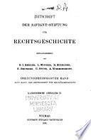 Zeitschrift der Savigny-Stiftung für Rechtsgeschichte